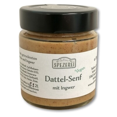Dattel-Senf mit Ingwer