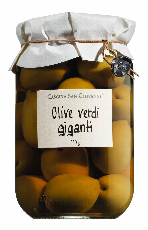 Olive verdi giganti - Grüne Riesenoliven mit Stein