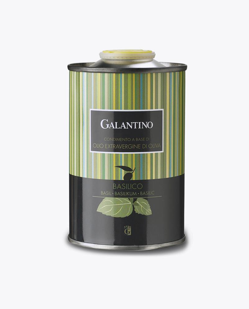 Natives Olivenöl extra mit Basilikum, Dose - Galantino