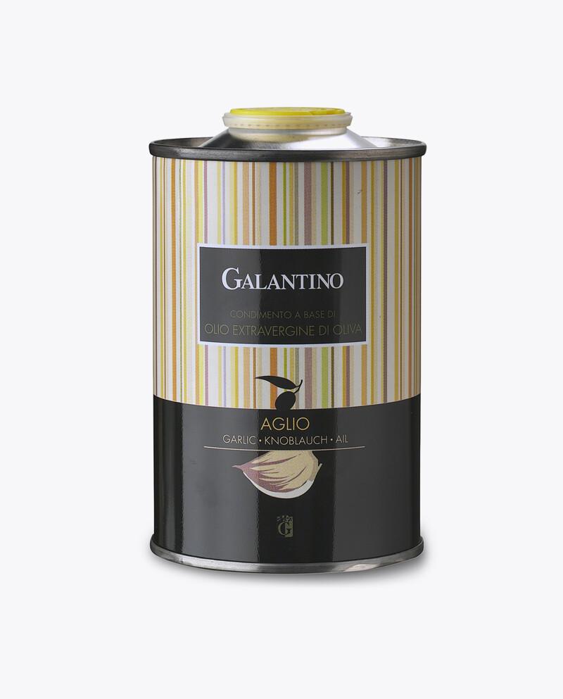 Natives Olivenöl extra mit Knoblauch, Dose - Galantino