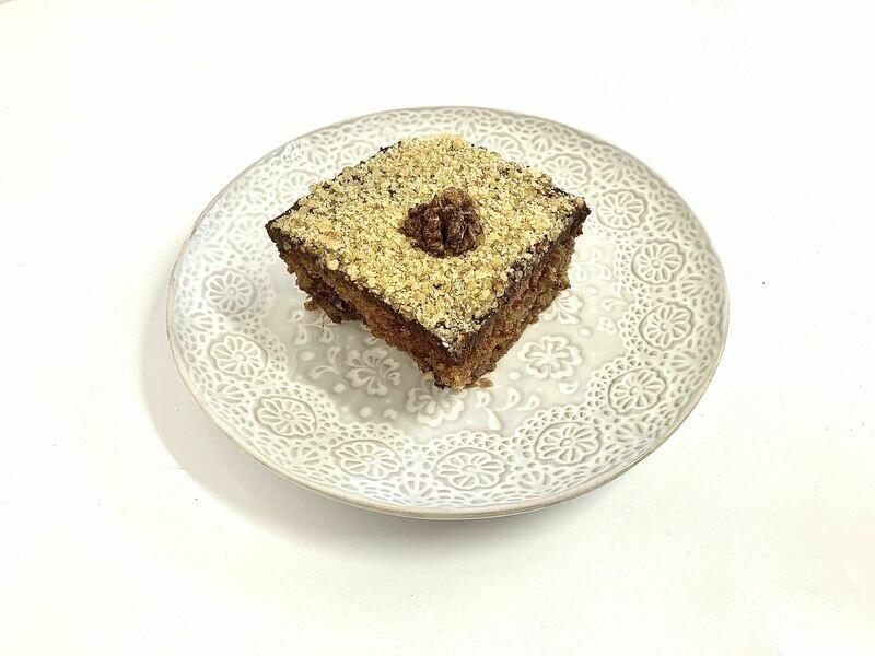 Greek Walnut Pie with Chocolate.
