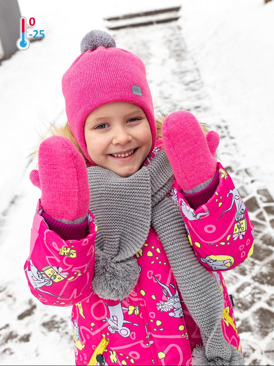 Шапка зима Nika Style розовый