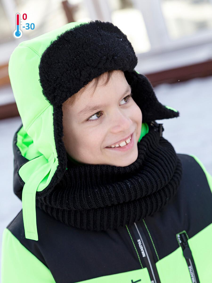 Шапка Зима Nika Style салатовый неон