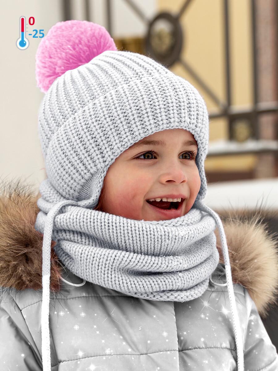 Шапка зима Nika Style серый