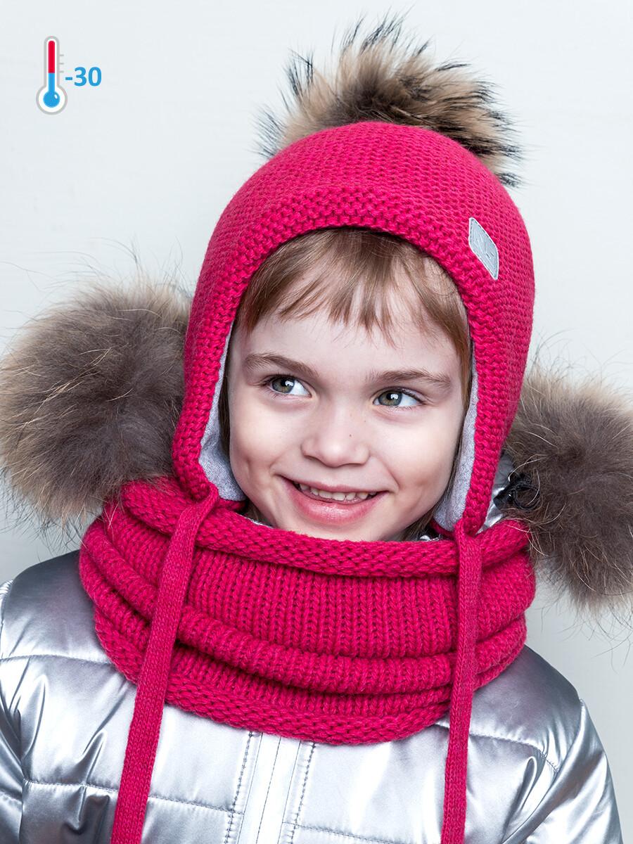 Шапка зима Nika Style фуксия