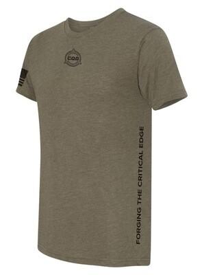 CQD® Forging the Critical Edge™ T-Shirt - Green