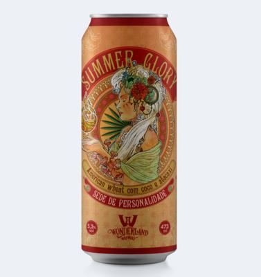 Summer Glory, American Wheat Ale com coco e abacaxi, lata 473 ml