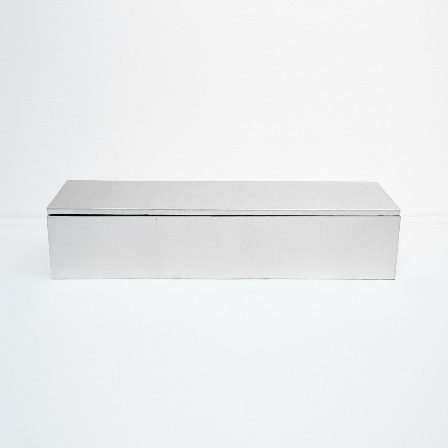 Pure Silver Leaf Box with Champagne Finish, Large
