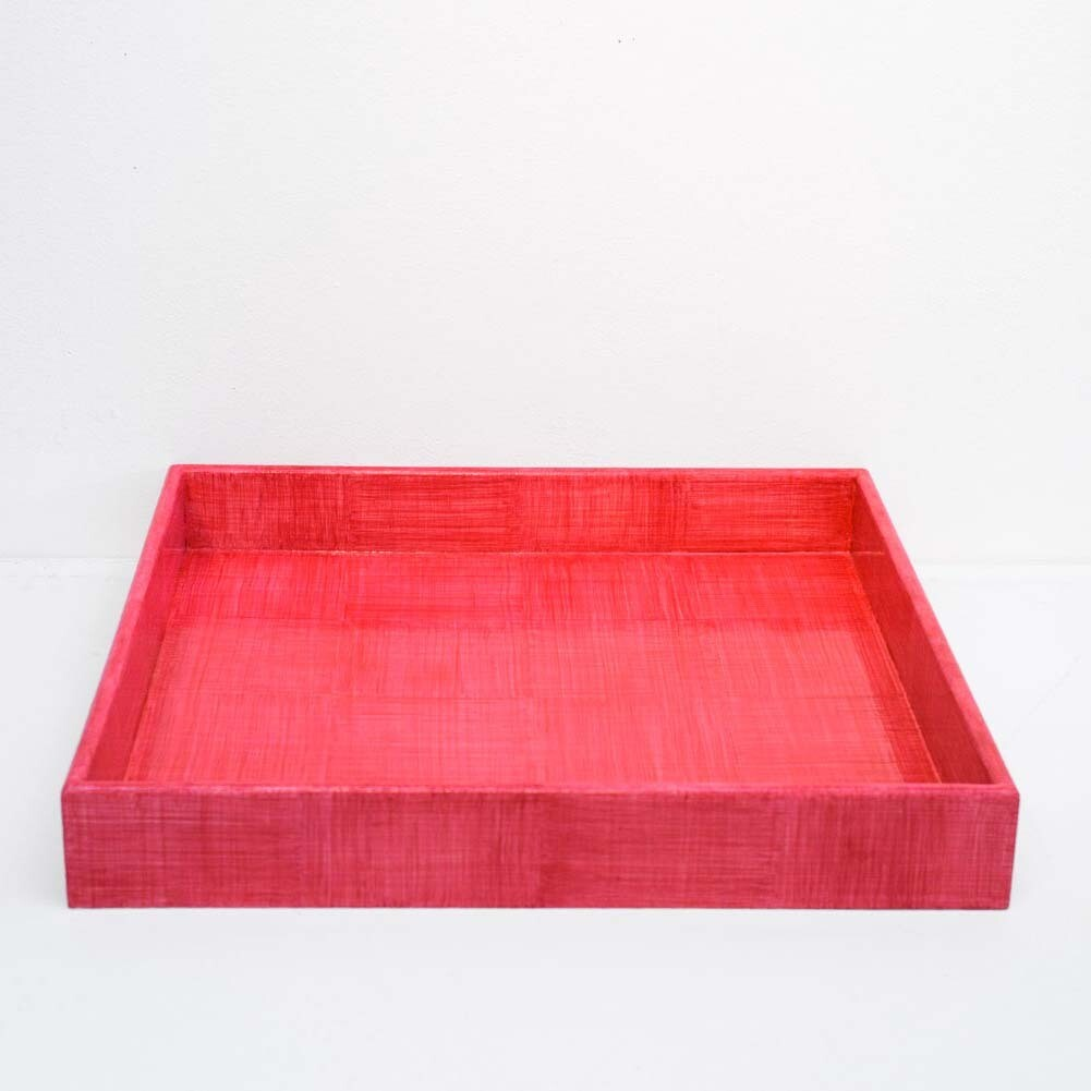 Rose Linen Glaze Tray, Large