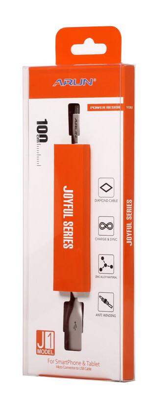 CABLE DE DATOS USB A MICRO USB  PREMIUM PLANO DE 1 METRO