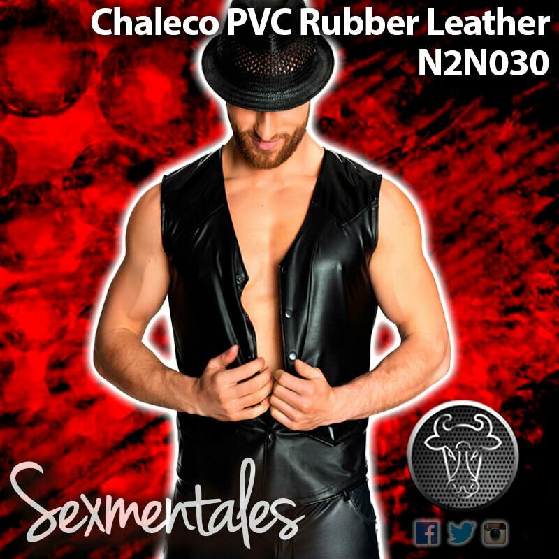 Chaleco PVC Piel Ruber LTH030 - Sexmentales Leather