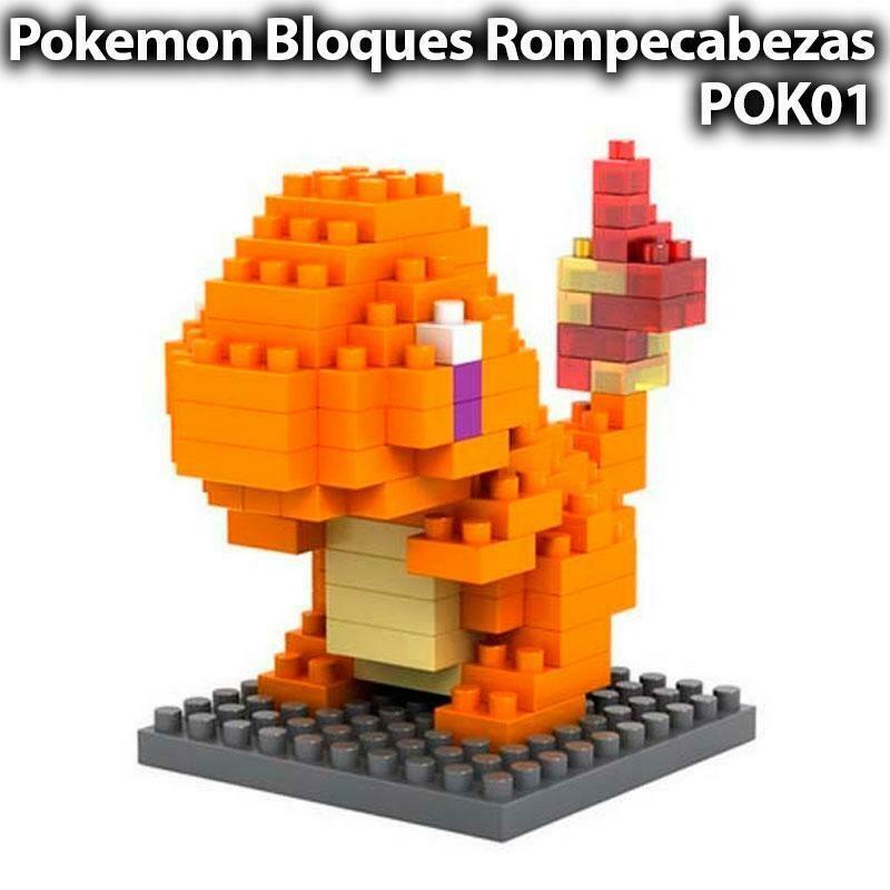 Charmander Pokemon Lego Mini Blocks Rompecabezas Armable - Sexmentales Coleccionables