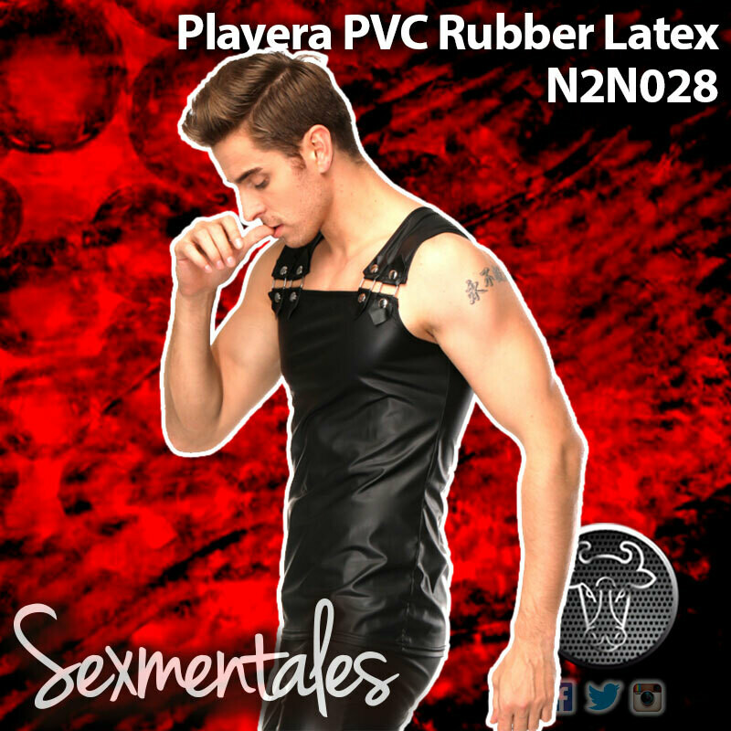 Playera Tirantes PVC RUBER  LTH028 - Sexmentales Leather
