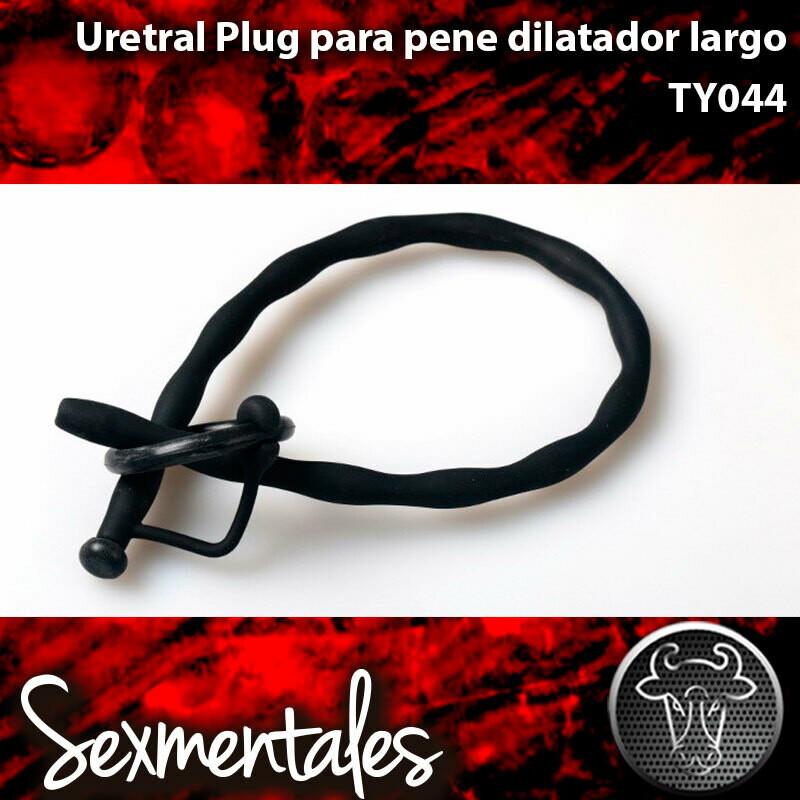 Uretral Hueco Oruga Largo con tapones y argollas  TY044 - Sexmentales