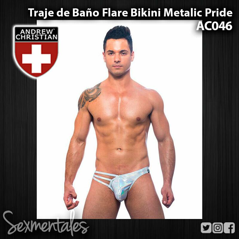 Traje de Baño Flare Bikini Metalic Pride AC046 - Sexmentales  - Andrew Christian