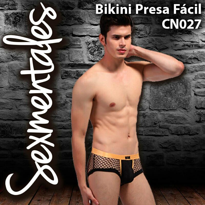 Bikini de Malla Transparente Presa Fácil CN027 - Sexmentales