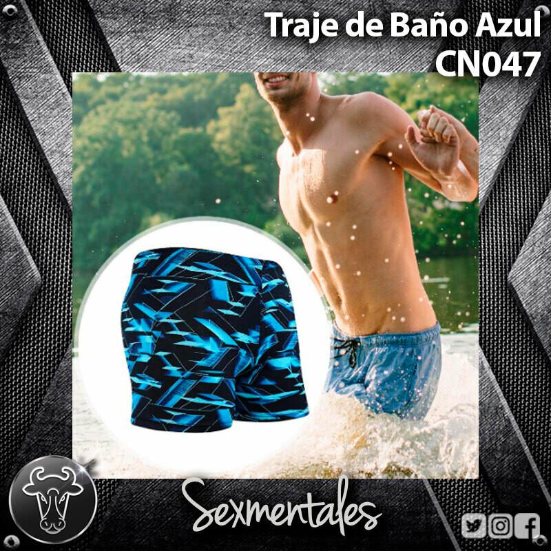 Traje de Baño Semicorto Azul CN047 - Sexmentales