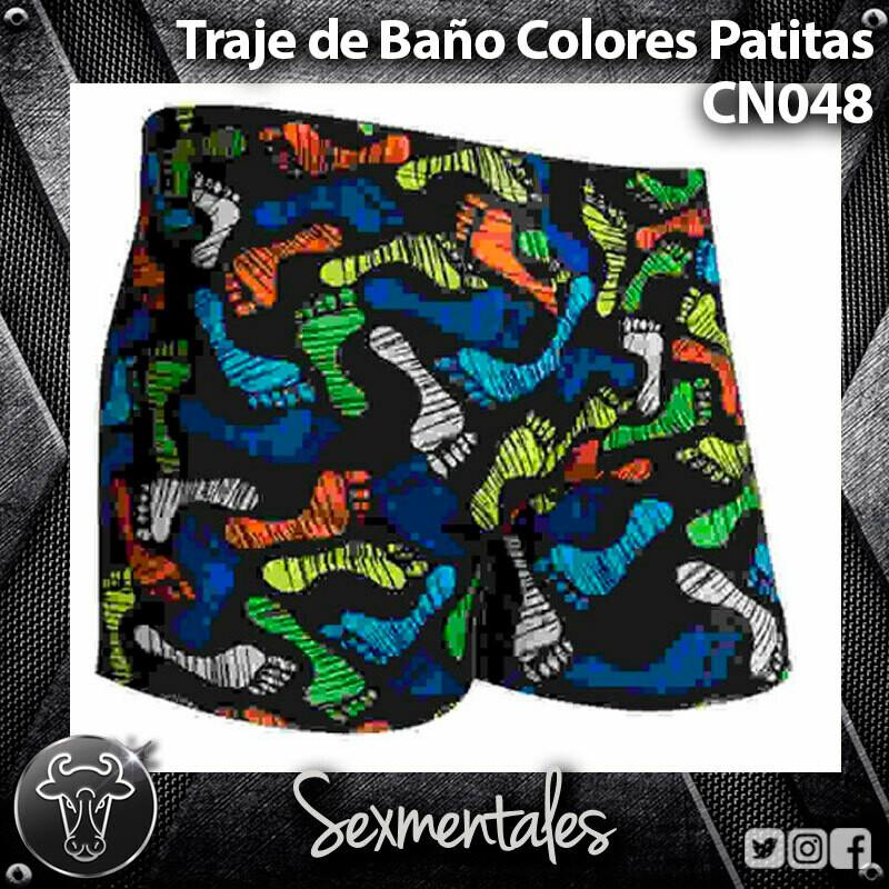 Traje de Baño Semicorto Patitas CN048 - Sexmentales