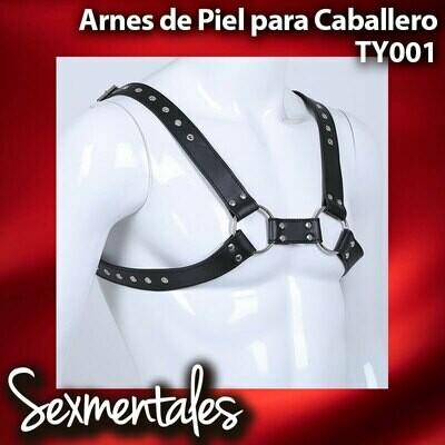 Arnes Pechera de Piel Con Argollas - TY001 - Sexmentales