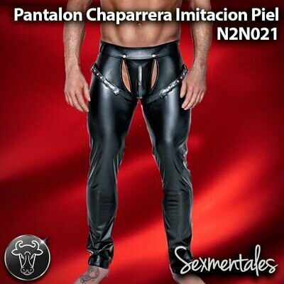 Pantalon  Chaparrera Imitacion Piel estilo Leather LTH021 - Sexmentales Leather