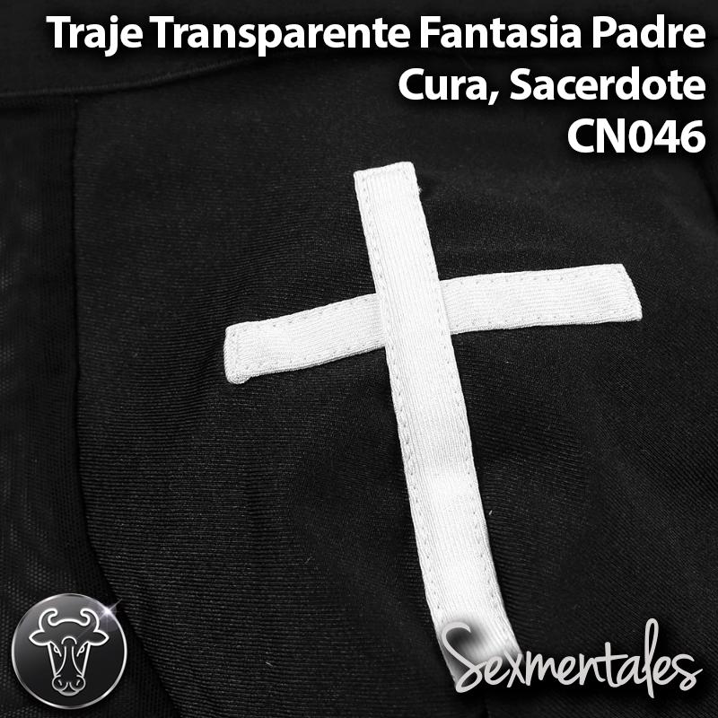 Traje Transparente Fantasia Padre, Cura, Sacerdote