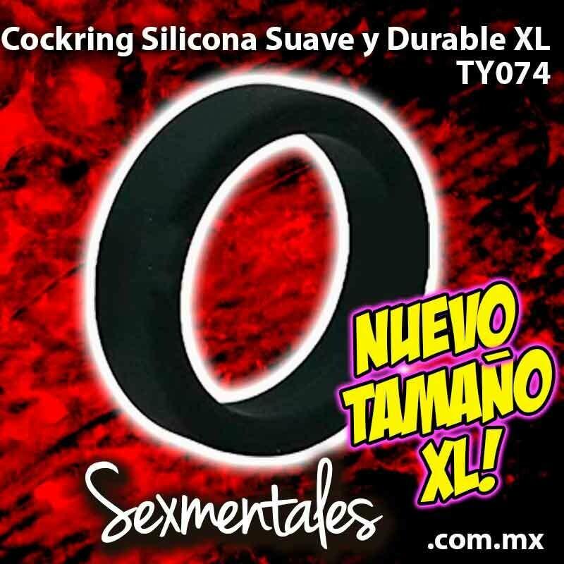 Anillo Cockring Silicona Suave Durable XL -Sexmentales