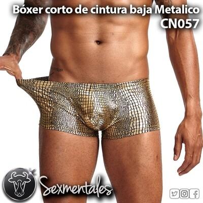 Bóxer corto de cintura baja Metalico. CN057 - Sexmentales