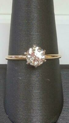 Lady's Diamond Solitaire Ring .85 CT. 14K Yellow Gold