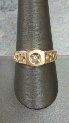Diamond Fashion Ring 14K Yellow Gold