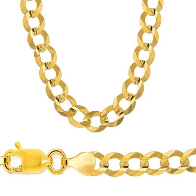 10k Gold 10.5mm Flat Curb Chain