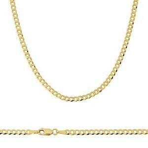 10k Gold 2mm Flat Curb Chain