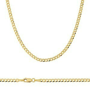 10k Gold 3mm Flat Curb Bracelet