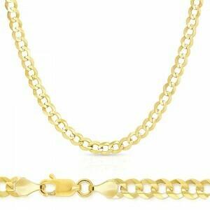 10k Gold 6mm Flat Curb bracelet