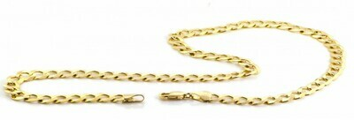 10k Gold 7mm Flat Curb Bracelet