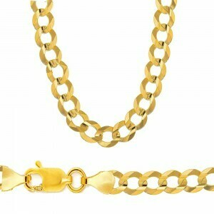 10k Gold 9.5mm Flat Curb Bracelet