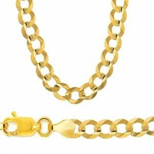 10k Gold 10.5mm Flat Curb Bracelet