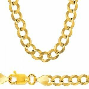 10k Gold 12mm Flat Curb Bracelet