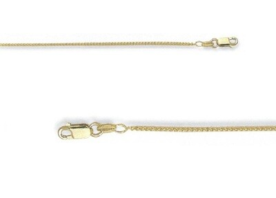 10k Gold Spiga (Wheat) Solid Chain 1.5mm