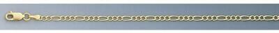10k Gold 2.6mm Open Figaro Chain