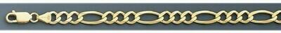 10k Gold 6.7mm Open Figaro Chain