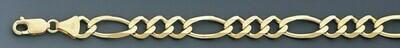 10k Gold 8.0mm Open Figaro Chain