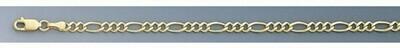10k Gold 3.7mm Open Figaro Chain
