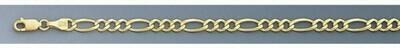 10k Gold 4.6mm Open Figaro Chain