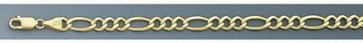 10k Gold 5.5mm Open Figaro Chain