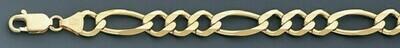 10k Gold 9.1mm Open Figaro Chain