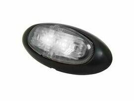 Side Marker Lamp 12V-24V (clear lens, red-amber LEDs)