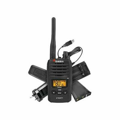 UNIDEN 2W UHF H-HELD USB CHARGE