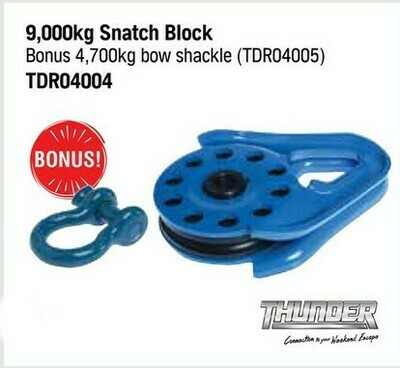THUNDER 9,000 KG SNATCH BLOCK