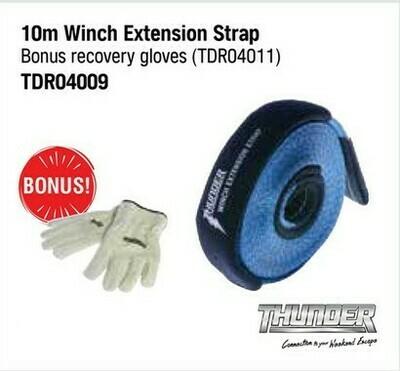 THUNDER 10M WINCH EXTENSION STRAP WITH BONUS