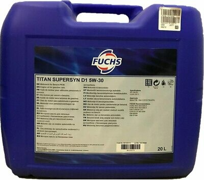 FUCHS TITAN SUPERSYN D1 SAE 5W-30 20L
